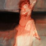 106 - El Amado y la Amada Acrílico y pastel sobre tela 118x88 cm